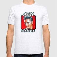 Elvis still alive ? Mens Fitted Tee Ash Grey SMALL