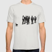 Reservoir Dogs Mens Fitted Tee Silver SMALL