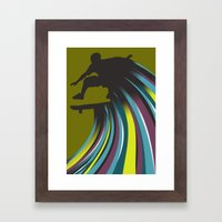 Skater Dude Framed Art Print