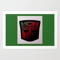Transformers Generation 1: Rub Sign: Autobot Art Print