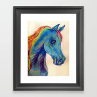 Horse-Head Hues Framed Art Print