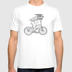 girl SMALL White Mens Fitted Tee