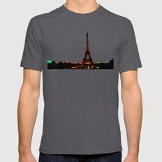 Paris. Mens Fitted Tee Asphalt SMALL
