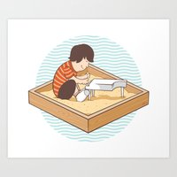 Brian's Sandbox Art Print