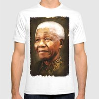 Mandela Mens Fitted Tee White SMALL