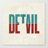 Canvas Print featuring Devil In The Detail. by David