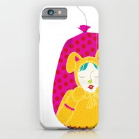 wabbit in a bag - neon version iPhone 6 Slim Case