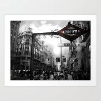 Gran Via-Madrid Art Print