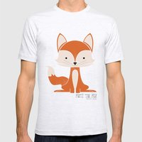 Fritz the Fox Mens Fitted Tee Ash Grey SMALL