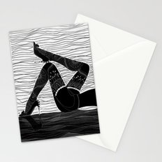 Oh la la - black & white Stationery Cards