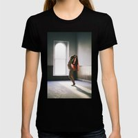 Scarlet Scarf Womens Fitted Tee Black SMALL