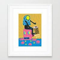 Funky kid Framed Art Print