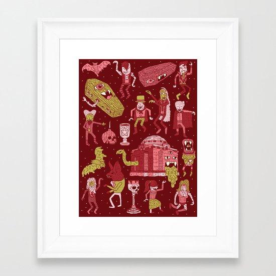 Wow! Vampires! Framed Art Print