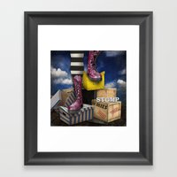 Stomp Framed Art Print