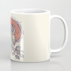 Owl on branch Mug