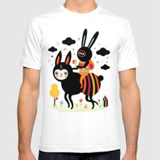 Walking Away SMALL Mens Fitted Tee White