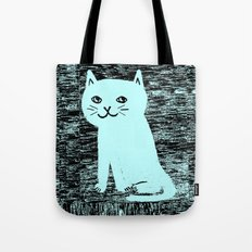 Wood grain cat Tote Bag