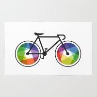 Geometric Bicycle Rug