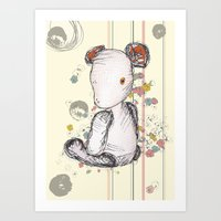 Art Print featuring Mr Ted by Laura Cartwright