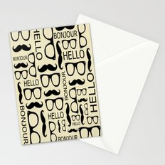 Hello, Bonjour Stationery Cards