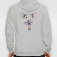 Pig and scarf Hoody
