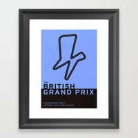 Legendary Races - 1948 British Grand Prix Framed Art Print