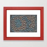 Non-linear Points Framed Art Print