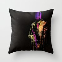 Mafia Music Throw Pillow