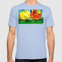Organic Fruits Mens Fitted Tee Tri-Blue SMALL