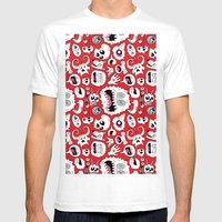 Another Monster Pattern Mens Fitted Tee White SMALL