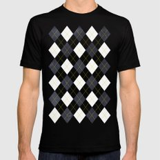 Argyle Mens Fitted Tee SMALL Black