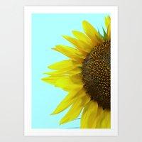Sunflower Mint Art Print