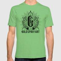 Gold Spirit Art Mens Fitted Tee Grass SMALL