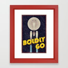 Star Trek: Boldly Go Framed Art Print