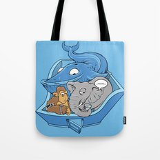 The Blue Whale in the Room Tote Bag
