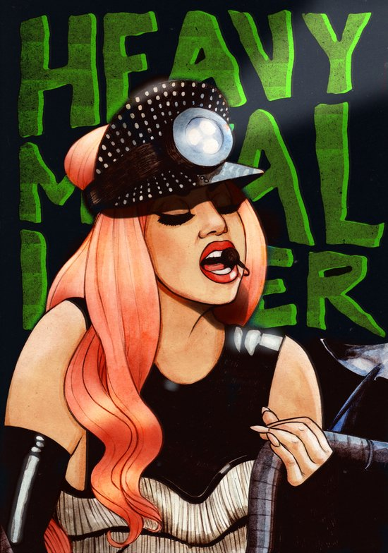Heavy Metal Lover Art Print