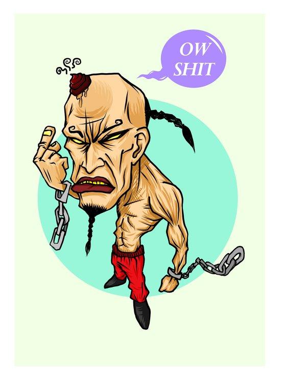 angry guy Art Print