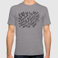 LIVE TO BE 100 Mens Fitted Tee Athletic Grey SMALL
