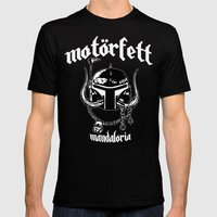 MotorFett Mens Fitted Tee Black SMALL