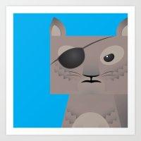 Deadly Squirrel Art Print