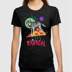 So Radical Womens Fitted Tee Tri-Black LARGE