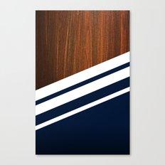 Wooden Navy Canvas Print