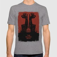 The Walking Dead. Mens Fitted Tee Athletic Grey SMALL