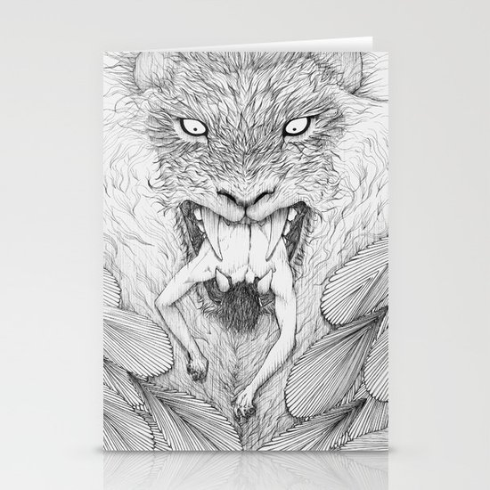 The Giant Winged Lion Stationery Card