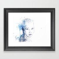 Figure Skater Framed Art Print