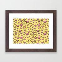 Pug Life  - Yellow And P… Framed Art Print