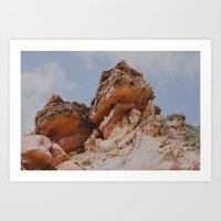Rock in my way Art Print
