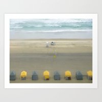 Little Cabanas Art Print
