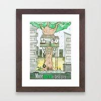 More Green Less Grey Framed Art Print