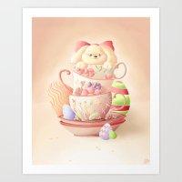 Teacup Bunny Art Print